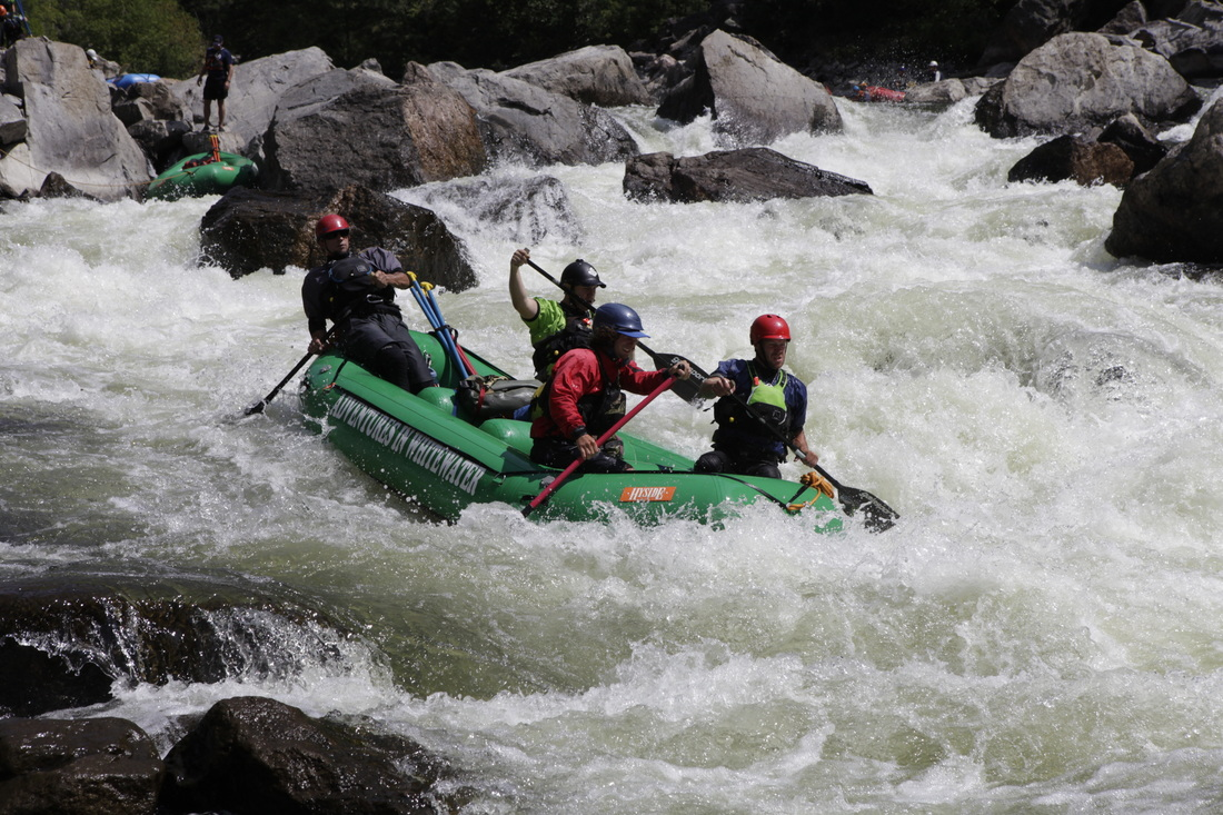 Experience Gore Canyon Class V Whitewater with AIW's most experienced guides!